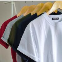 Basic T Shirt long line bahan original distro combet 30s
