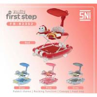 Baby Walker Family First Step 82352 Rabbit 3 in 1 Rocker Walke