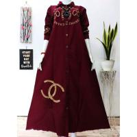 Gamis Katun Baby Canvas / Dress / Baju Muslim / Salvia Maxy