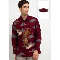 Kemeja Batik Arjuna Weda Wayang - Merah