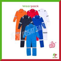 Wearpack Safety / Baju Kerja / Seragam Kerja / Coverall Proyek - Biru Dongker, L
