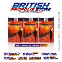 BRITISH PROPOLIS PAKET 3 Botol (6ml) - Propolis Terbaik, Jamin Asli