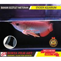 stiker aquarium akuarium ikan predator