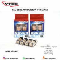 Led Sein Autovision Microzen LED 144 Mata Kedip Normal Super Bright - T20