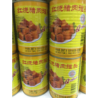 Q3 Stewed Pork Cubes Daging Samcam Dadu Babi Kecap Kalengan 397gr