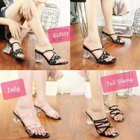 Sepatu Sandal Wanita High Heels Hak Kaca Premium Terbaru Realfict
