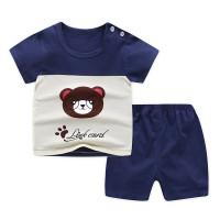 (0-2 Thn) Setelan Baju Bayi Import Pakaian Bayi Baju Anak Kaos - Navy Link Eard, 3-6 Bulan