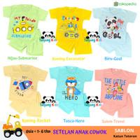 Baju Pakaian Stelan Setelan Kaos Anak Bayi Laki Laki Cowok Cowo Murah