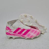sepatu bola adidas nemeziz 18+ white pink fg rejek
