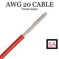 Kabel AWG 20 Tinned Cooper Merah Hitam Per Meter