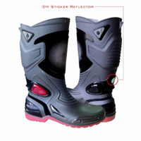 AP boots Moto 3 black red