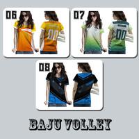 Baju Kaos Tshirt Jersey Cewe Olahraga Volley Volly Ball Voli Art 06-08