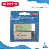 Penghapus Pensil Derwent Dual Art Eraser Set 2 Blister Pack