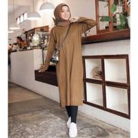 Jihan Tunik Rajut / Tunik Rajut / Sweater Rajut Wanita / Atasan Rajut