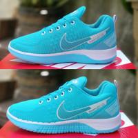 sepatu wanita sepatu nike cewek sepatu sneakers sepatu sport - 39, Biru putih