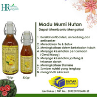 Madu Hutan Indonesia /madu hutan murni/lebah hutan isi 725gr