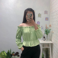 Denisa Top - Green Pastel