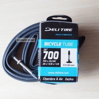 Deli Tire 700 x 25c 28c Ban Dalam Roadbike Fixie 25/28c Presta FV 60mm