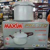 Panci Presto Maxim dengan 3 ukuran 4 / 7 dan 12 liter Presto Maxim - 4 liter