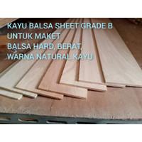 Balsa sheet 10mm x 10cm x 1meter kayu balsa kualitas super 1pcs