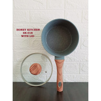 HONEY KITCHEN SN-018 SAUCE PAN MARBLE 18 CM WITH LID DENGAN TUTUP KACA