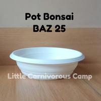 Pot Bonsai Azalea 25 putih - BAZ 25