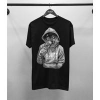 T-shirt Serigala Hipster / Kaos Distro Atasan Pria / Kaos Pria / Kaos