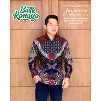 Kemeja JAYASURA Baju Batik Pria Modern Lengan Panjang Full Furing
