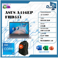 Laptop Asus A416EP FHD551 i5 1135G7 4GB 512ssd MX330 2GB W10+OHS 14.0