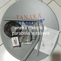 Antena Parabola Mini 60CM Tanaka + LNB KU Single + Kabel RG6 5C