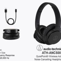 Audio Technica ATH-ANC 500 BT Wireless ANC Headphones Black