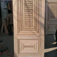 pintu kayu Meranti oven baru super