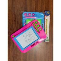 mainan anak drawing board Papan Tulis Magnet Hapus - RKC 01001-1