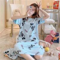 Baju Tidur Wanita Mini Dress Mickey Mouse Blue