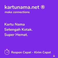Kartu Nama Super Hemat (Isi 1/2 Dari Kartu Nama Biasa)