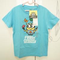 ORI UNIQLO Baju Kaos Anak Minions Unisex Laki-laki Perempuan