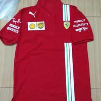 tshirt baju kaos Kerah Puma Ferrari Scuderia F1 Team BigSize 3XL & 4XL