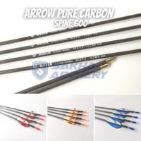 Anak Panah Arrow Musen Carbon 6mm Spine 600, MSTJ-42BS Asli
