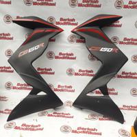 half fairing / sayap new cb150r hitam doff lis merah
