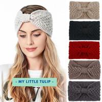 Bandana Wanita Wool Rajut Model Turban Headband Cantik Bando Simpul