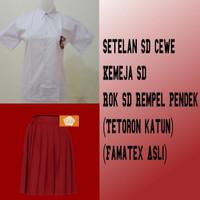 Seragam Sekolah SD cw merah putih baju pendek rok pendek