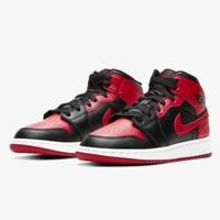 Air Jordan 1 Mid Banned GS 554725-074 100% Authentic