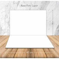 Alas Foto Lipat Polos Putih / Background Foto Produk