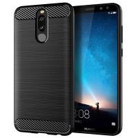 Armor Carbon TPU Case Huawei Nova 2i - Casing Black Soft Cover Hitam