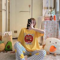 Piyama CP Import Setelan Wanita Remaja Dewasa bigsize Baju Tidur Kaos