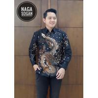 Naga Sogan Baju Batik Pria Lengan Panjang Lapis Fuirng Premium