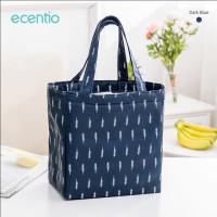 ecentio tas bekal alumunium foil lunch bag tote bag waterproof