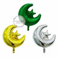 Balon Foil Bentuk Star Moon / Bulan Bintang
