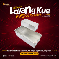 Loyang Brownies cake Bolu gulung kotak Persegi panjang Premium