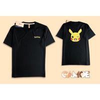 Kaos Baju Tshirt desain muka pokemon pikacu pikachu head face full